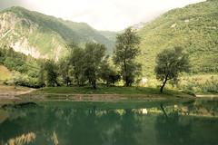 Tenno See  ....   kleine Insel im See (Pe Wi) Tags: tennosee italy trentino inselimsee hartblei ndfilter frühmorgens schöneswettervordemhagel