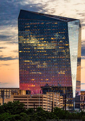 Cira Centre (mhoffman1) Tags: amtrak ciracentre cã©sarpelli philadelphia philly sonyalpha tamron150600mm universitycity a7r architecture building dusk face mirrored officebuilding partlycloudy reflection sunset