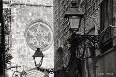Retalls de la Ciutat ( Basílica Santa Maria del Pi . ) (Alex Nebot) Tags: bn blancinegre monocromotic monocromo black noir barcelona barna bcn barcelone catalonia catalunya cataluña citta city ciutat ciudad barrio barri gotic gotici iglesia detalles farolas nikon d7200 sigms 18300 street photography streetphotography