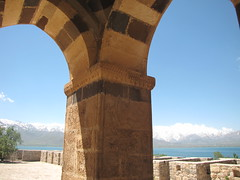 Columns of Monastery (Alexanyan) Tags: ahtamar island van lake urartu armenian western armenia holy cross monastery orthodox christian church eglise kirche chiesa armenien turkey mountain
