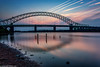 Runcorn Bridge-2 (andyyoung37) Tags: manchestershipcanal runcornbridge waterreflections driftwood rivermersey sunset runcorn england unitedkingdom gb