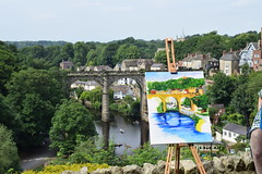 Knaresborough - Sky Arts (4) (Paul Thackray) Tags: yorkshire northyorkshire knaresborough rivernidd skyarts painting 2017