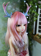 commissioned antlers (Sparrow ♪) Tags: sparrowsshop sparrow bjd fairyland anlters eight point 8 minifee luka msd upright pink pearl flowers