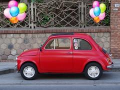 Buon compleanno cara 500!! (antonè) Tags: fiat500 automobile rossa cinquecento anniversario 60anni sangavinomonreale sardegna campidano antonè utilitaria microcar fiat babycar runabout voiturette red rouge coche wagen makinë кола cotxe 汽车 bil otomobîl