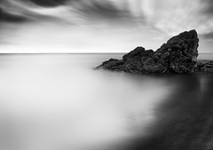 Whiterock Beach (annemcgr) Tags: whiterockbeach killiney dublin ireland rock beach clouds sea longexposure le monochrome blackwhite fineartphotography annemcgrath