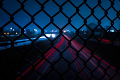 Detroit - 2017 (elizamariia) Tags: michigan night city fence urbanscape nightphotography photography freeway urbanphotography urban detroit