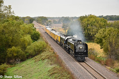 Steam in Kansas. (Machme92) Tags: unionpacifc up union u trains tracks trees steam railroad railfanning railroads railfans rails rail row railroading railfan sky