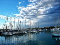 Boats in the harbor, Desenzano, Italy. (isaacullah) Tags:
