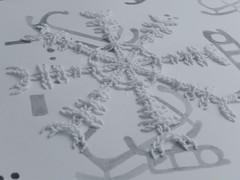 Ægishjálmur (Landanna) Tags: ægishjálmur paperart paperwork bullionknot embroidery embroideryonpaper broderi broderipåpapir borduren bordurenoppapier handmade handgemaakt helleristninger art