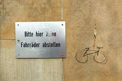 says who? (erix!) Tags: nobicycleparkingplease übertretung verbot scribble sketch fahrrad