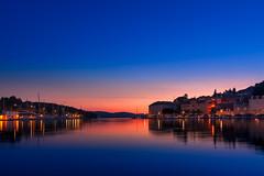The Dusk in Milna (Wolfhowl) Tags: adriatic milna sunset bluehour sea seascape island city cityscape croatia brac town dusk