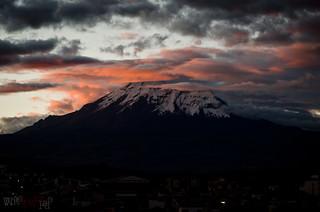 Le Chimborazo nimbé de douceurs rosées