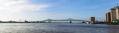 New Orleans Bridge Panorama (adamopal) Tags: canon canon5d canon5dmkiii canon5dmarkiii neworleansbridgepanorama neworleans bridgepanorama neworleanspanorama visitneworleans neworleansla neworleanslouisiana neworleanswaterfront panorama la louisiana waterfront blue white green tan