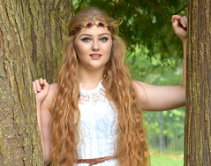Bohemian look. (pstone646) Tags: beauty portrait pretty people redhead youngwoman younglady outdoors