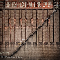 The British Extracting Co Ltd (Osdog LRPS CPAGB) Tags: architecture urban hull building brick staircase
