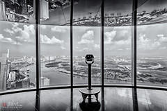 Saigon. (Bill Thoo) Tags: saigon hochiminhcity vietnam bitexcotower bitexcofinancialtower view landscape architecture travel scenic river window monochrome bnw bw blackandwhite a7rii sony ilce7rm2 samyang 14mm