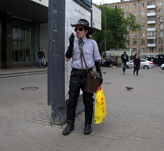 Moscow people. Man in black hat and hi gloves (rustamsad) Tags: moscow street summer russia lumix leica lx5