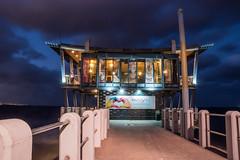 Durban Pier (Paul Saad) Tags: durban night nikon southafrica longexposure sea lights