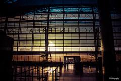 Three years gone (.KiLTRo.) Tags: sanfrancisco california unitedstates airport kiltro sunset sun color city building architecture iron glass blue yellow orange light