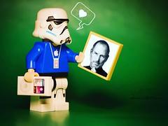 We miss You, Steve... (antoniris) Tags: applestore apple stevejobs stormtrooper starwars toy lego afol