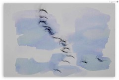 Song of the Wild Geese (tiggerpics2010) Tags: wildgeese flight winter migration blur abstract watercolour
