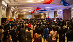 Nearly 800 guests attended this year's U.S. Independence Day reception at the Intercontinental Hotel. (USEmbassyPhnomPenh) Tags: talk chat mingle reception party 4th july independence day holiday celebration room hall speech remarks
