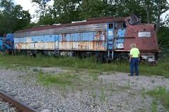 Belington WV - 100_3317 (primemover88) Tags: speeder railcar narcoa appalachian elkins wv west virginia durbin greenbrier valley railroad excursion