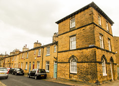 229 -  Saltaire - Three Storey Houses - shared lodgings for single workers (1 of 1) (md2399photos) Tags: 2jun17 almshouses davidhockney robertspark saltaire saltaireunitedreformedchurch saltsmill victoriahall