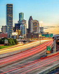 Full Rush (Adam Kyle Jackson) Tags: houston texas rushhour traffic expressway highway street cars taillights skyline cityview cityscape cityscapes landscape landscapes buildings building sunset sunsets