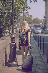 Holiday. (sdupimages) Tags: softlight femme woman girl candid glamour france vacances parisienne paris rue street
