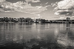 July 4 BW #1 (brev99) Tags: nikviveza colorefex blackandwhite dxofilmpack5 delta clouds reflections arkansasriver river water photoshopelements12 d610 tamron35f18vc