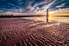 Sunset at the beach (tbnate) Tags: newbrighton mersey merseyside beach water reflection river seaside sea seascape sand lighthouse tbnate nikon nikond750 d750 samyang samyang14mm 14mm ultrawideangle ultrawide sun sunset clouds sky architecture landscape nature outdoor outside