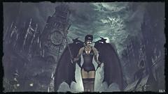 💀Creeping Death💀 (alexandra wardark) Tags: secondlife sl darkness gothic mask wings moon angel fallenangel 200v200c2000v