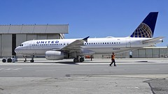 United Airlines 1995 Airbus 320 N428UA c/n 523 at SFO. 2017. (planepics43) Tags: airbus 320 319 n428ua 523 sanfranciscoairport airport sfo sfoov boeing 380 engine maintenance 787 tower takeoff taxi towing california claytoneddy cockpit 17crossfeed landing lufthansa southwestairlines americanairlines deltaairlines 747 777 757