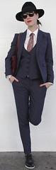 Rebecca (bof352000) Tags: woman tie necktie suit shirt fashion businesswoman elegance class strict femme cravate costume chemise mode affaire