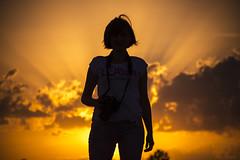 My photo buddy ;) (Kuzz1984) Tags: silueta silhouette sun sunce clouds oblaci nikon d7200