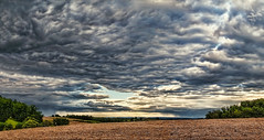 IMG_4080-81Ptzl1scTBbLGER (ultravivid imaging) Tags: ultravividimaging ultra vivid imaging ultravivid colorful canon canon5dmk2 clouds stormclouds sunsetclouds scenic summer vista fields farm rainyday rural panoramic pennsylvania pa evening
