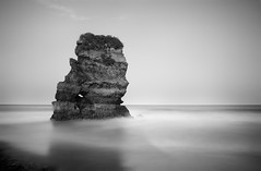 Rock Formation (annemcgr) Tags: lagos portugal rock rockformation sea water longexposure le monochrome blackwhite fineartphotography annemcgrath