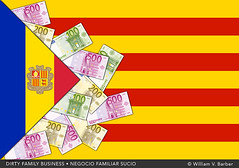 166-NegocioFamiliarSucio (William V. Barber) Tags: abusodepoder andorra bandera cataluña comisiones convergenciaiunió corrupción crimenorganizado dinero evasióndeimpuestos herencia independencia jordipujol martaferrusola