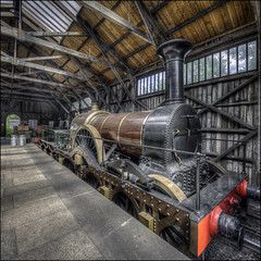 The Iron Duke (Darwinsgift) Tags: didcot railway centre museum iron duke train locomotive station platform victorian hdr photomatix nikkor 19mm pc e f4 tilt shift photomerge nikon d810