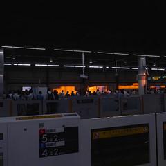 the station at dusk (akhr1961) Tags: gr4 settingsun station platform gohome