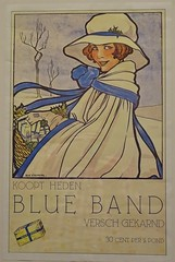 Affiche reclameplaat Blue Band illustrator Rie Cramer (aaldersa) Tags: reclame blue band koopthedenbluebandverschgekarnd30centperpond 1936 29x40 cm ria kramer affiche reclameplaat illustrator rie cramer