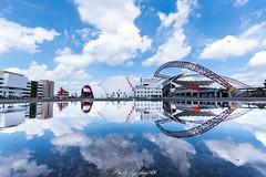 台中洲際棒球場 (lwj54168) Tags: 台中 倒影 洲際棒球場 藍天 白雲 nikon d750 1635mm taiwan sky bule photo