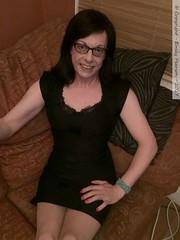 July 2017 (Girly Emily) Tags: crossdresser cd tv tvchix trans transvestite transsexual tgirl tgirls convincing feminine girly cute pretty sexy transgender boytogirl mtf maletofemale xdresser gurl glasses dress tights hose hosiery indoor