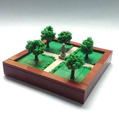Christiansen Park (jigsawjo) Tags: lego park micro statue rubberband