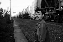 Antony (negative.ph) Tags: people portrait black white bw monochrome train retro