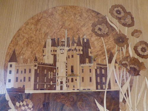 Belmond Northern Belle Glamis Castle marquetry