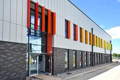 Wigan Fire Station (14) (jamesutherland) Tags: curtainwall curtainwalling glazing glass technal dualseal