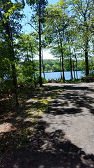 Summertime (SurFeRGiRL30) Tags: franklinlakesnj franklinlakesnaturepreserve picnic picnictable scenery scenic niceview lake reservoir trees woods forest green blue beautiful pretty nature path amazing fun summertime summer june 2017 nj newjersey shadows sun sunlight sunshining sunshine