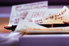 Notes. So many projects. (Gudzwi) Tags: notes notizen füllfederhalter pen fountainpen stift handwriting handschrift badhairdays todo closeup nahaufnahme makro macro
